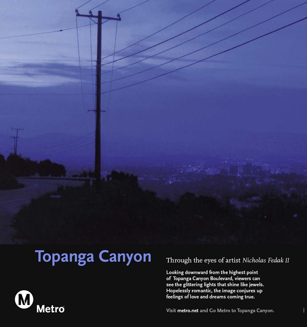 Topanga Canyon Railcard Poster