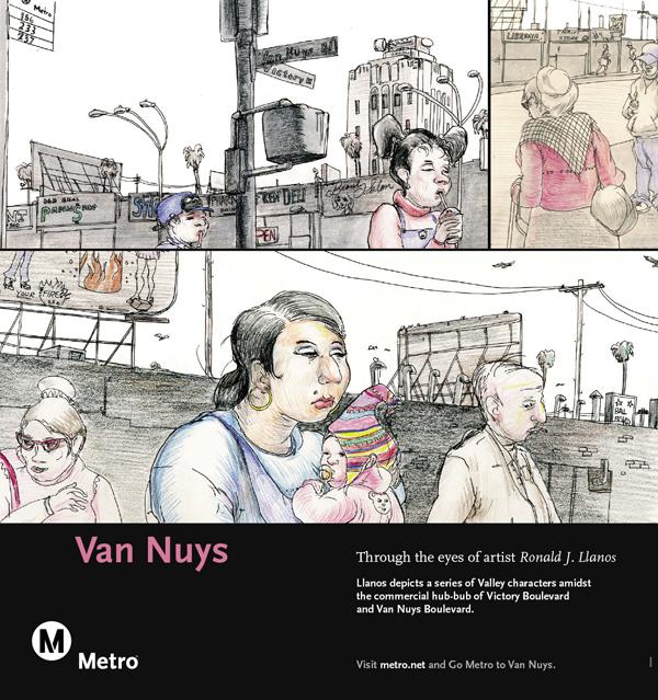 Van Nuys Railcard Poster