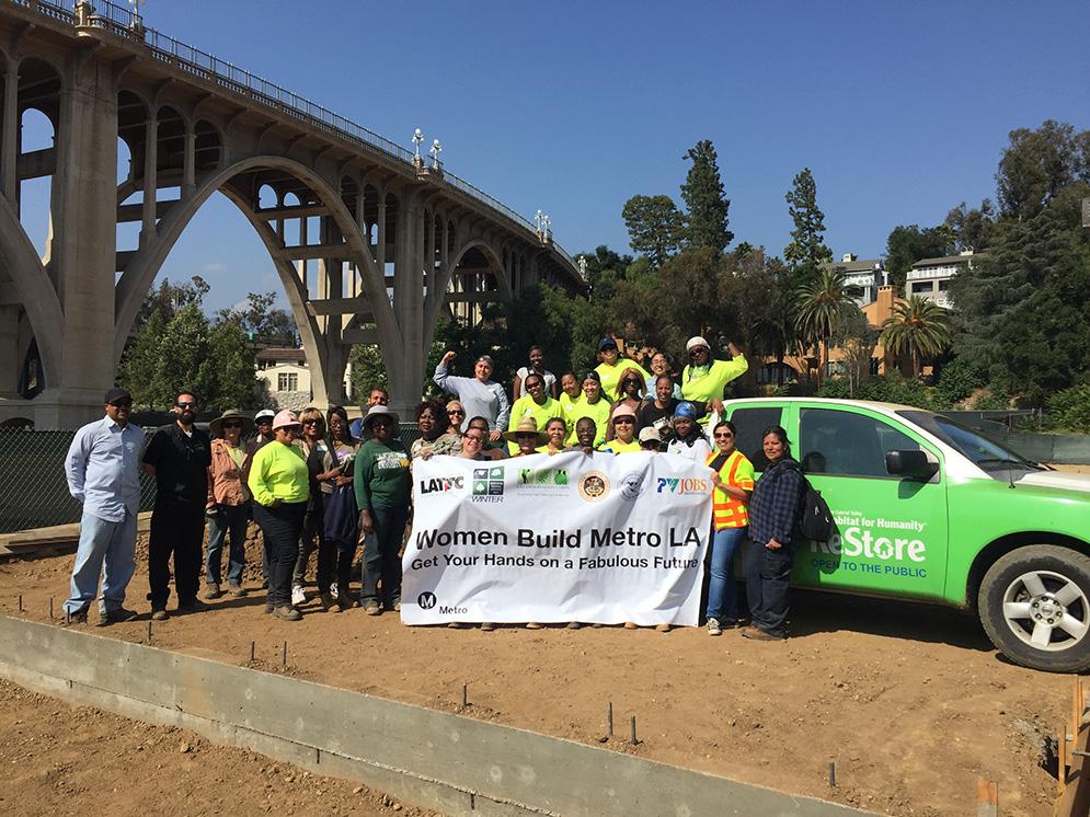 WBMLA Volunteers with San Gabriel Valley Habitat for Humanity