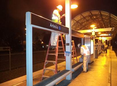 Skirball Fire Update >> Metro Photo Galleries | Blue Line Station Refurbishment