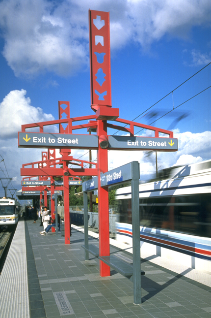 Blue Line Totems in Red (image 2)