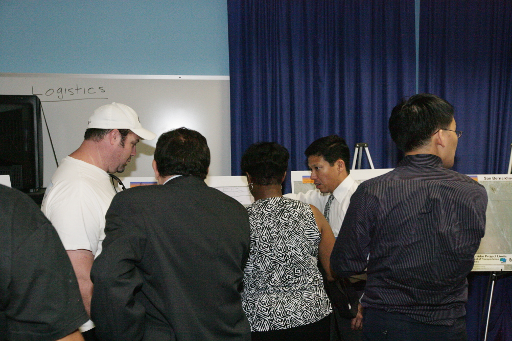 """<p class=""""MsoNormal"""">Caltrans representatives were available to answer questions one-on-one.</p>"""
