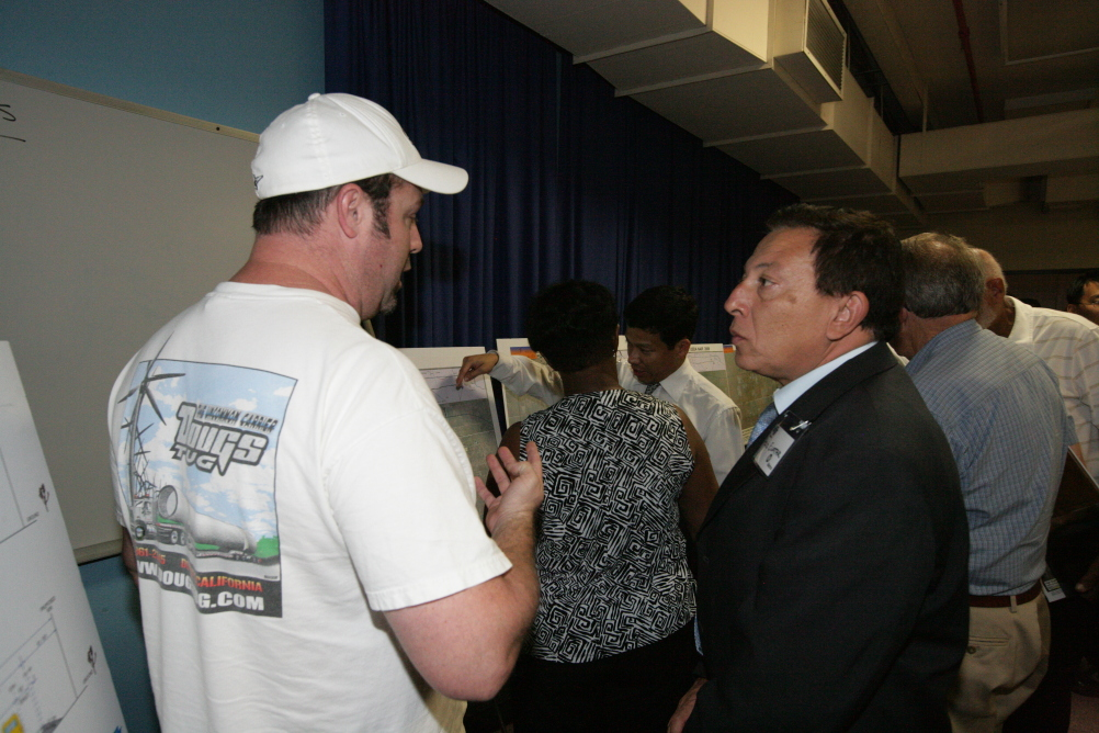 <p>Caltrans representatives were available to answer questions one-on-one.</p>