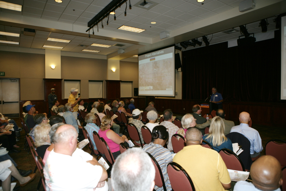 """<p class=""""MsoNormal"""">Caltrans District 7 Deputy District Director, Ronald Kosinski answered questions from the attendees.</p>"""