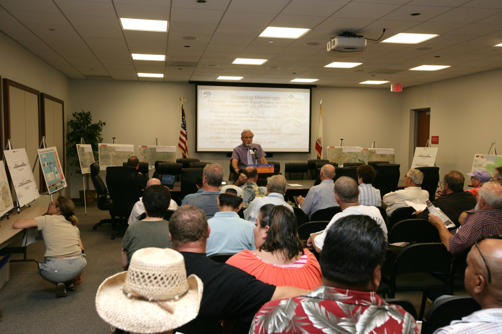 """<p class=""""MsoNormal"""">Caltrans District 7 Deputy District Director, Ronald Kosinski, provided a project presentation at each meeting.</p>"""