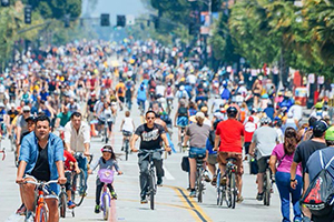 Bike use during CicLAvia