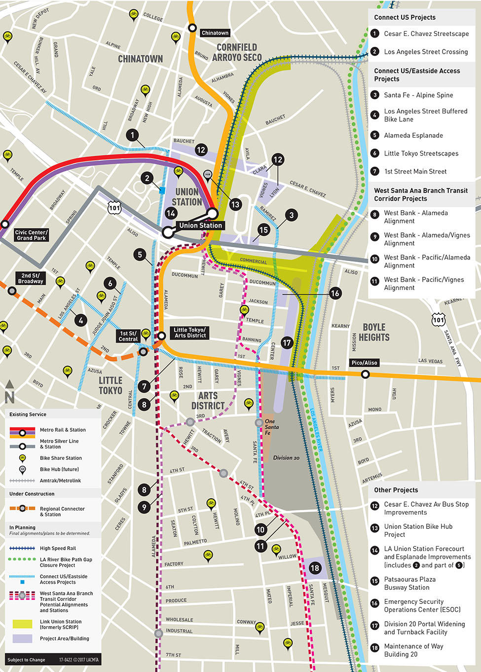 Map of Arts District project area