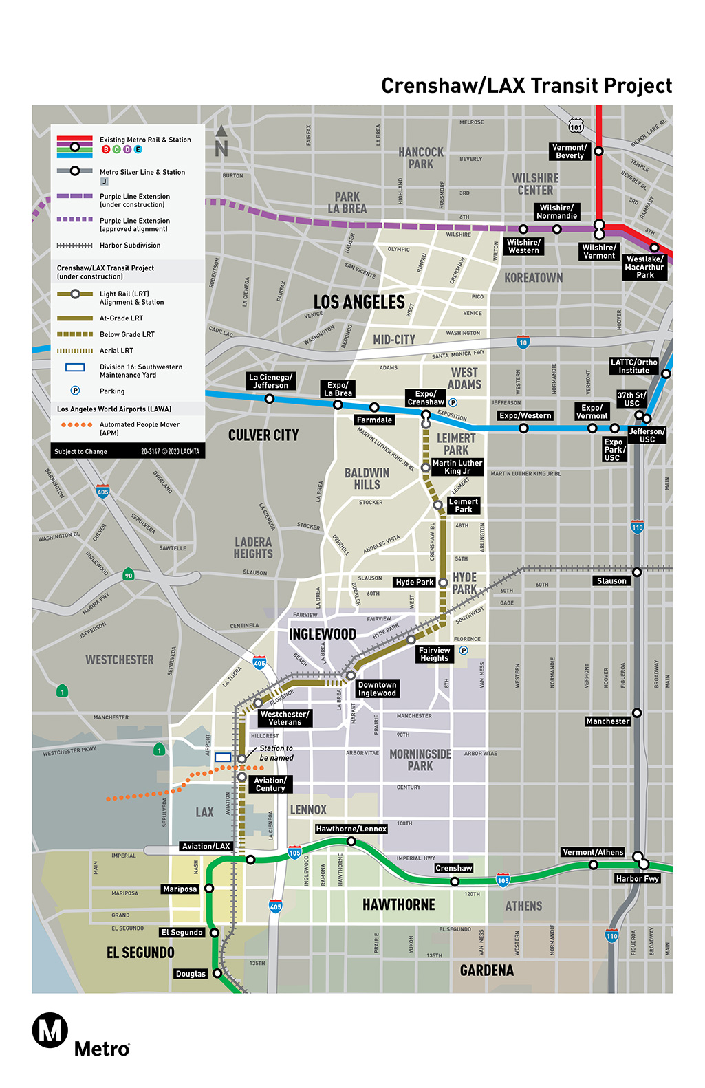 Crenshaw/LAX Project Map