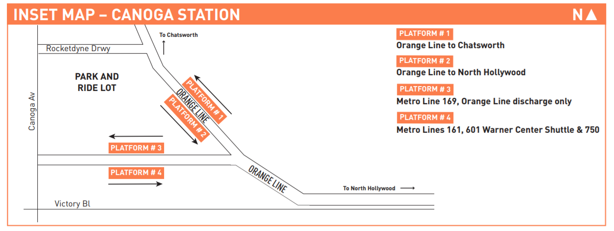 Map of the station layout