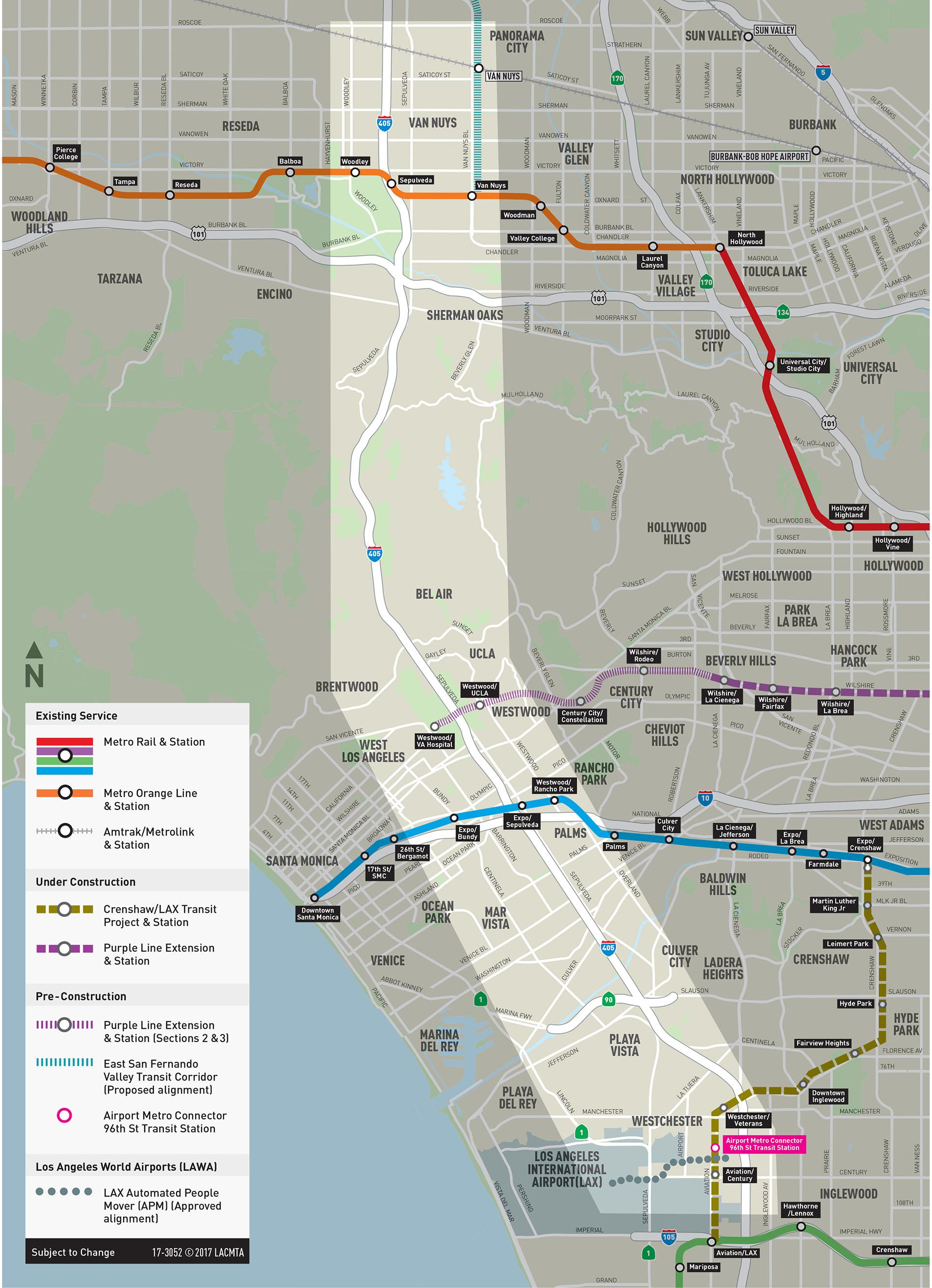 Sepulveda Transit Corridor - Us 31 project map