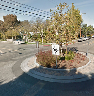 Michigan Avenue Neighborhood Greenway, Santa Monica; Google Maps