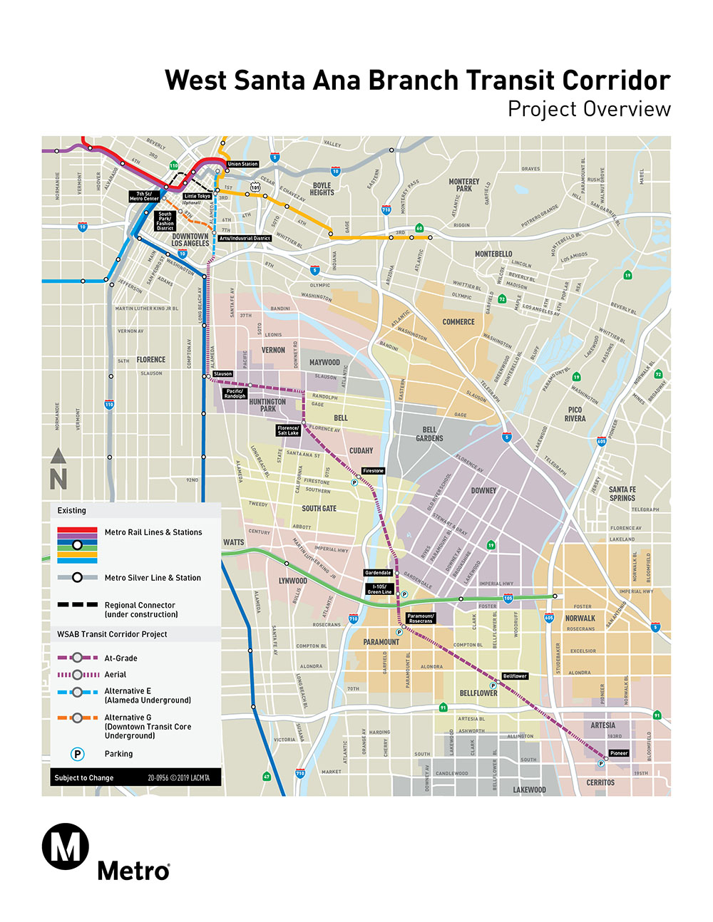 West Santa Ana Branch Transit Corridor_Project Overview Map