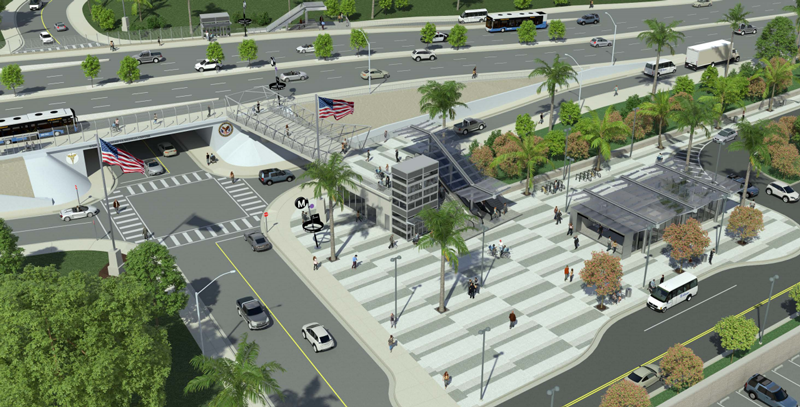 Westwood/VA Hospital Station rendering