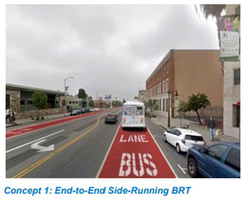 Vermont Concept 1: End-to-End Side-Running BRT