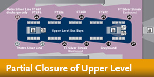 El Monte Station - Partial Closure of Upper Level