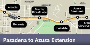Gold Line Foothill Extension - Map