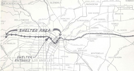 1961 New Proposed Backbone Fallout Shelter Detail Map