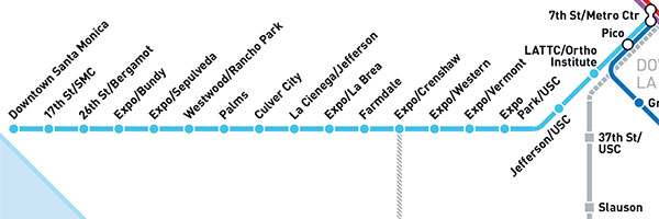 Metro Expo Line Map (Image)